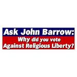 Ask John Barrow bumper sticker