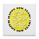 Happy New Year Tile Coaster