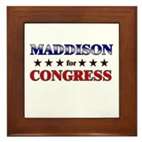 MADDISON for congress Framed Tile