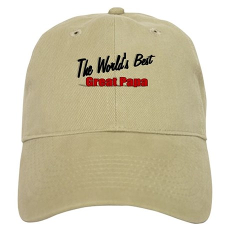 """The World's Best Great Papa"" Cap"