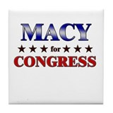 MACY for congress Tile Coaster