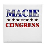 MACIE for congress Tile Coaster