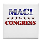 MACI for congress Tile Coaster