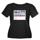 MACEY for congress Women's Plus Size Scoop Neck Da