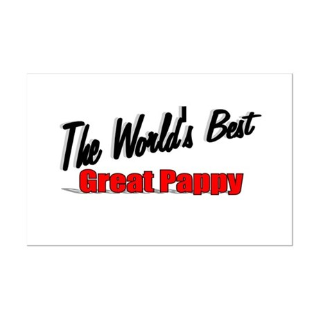 """The World's Best Great Pappy"" Mini Poster Print"