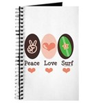 Surfing Peace Love Surf Surfboard Journal