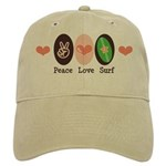 Surfing Peace Love Surf Surfboard Cap