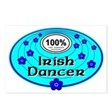 Blue 100% Irish Dancer Postcards (Package of 8)