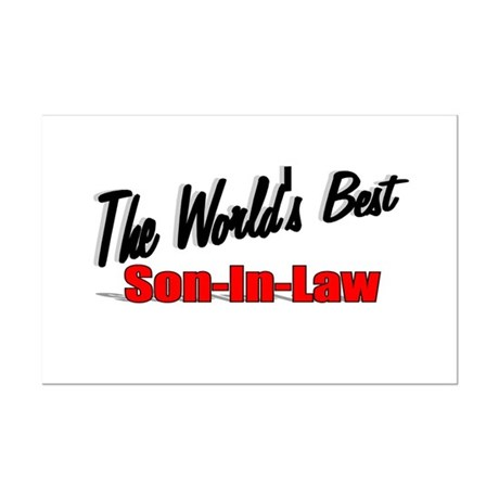 """The World's Best Son-In-Law"" Mini Poster Print"