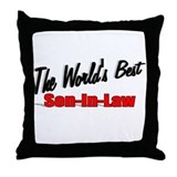 """The World's Best Son-In-Law"" Throw Pillow"