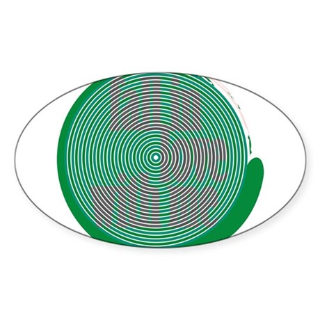 St. Patrick's Day Subliminal Oval Sticker