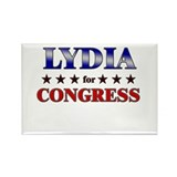LYDIA for congress Rectangle Magnet