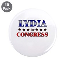 "LYDIA for congress 3.5"" Button (10 pack)"
