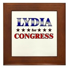 LYDIA for congress Framed Tile