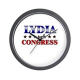 LYDIA for congress Wall Clock