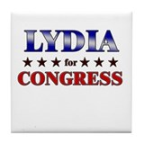LYDIA for congress Tile Coaster
