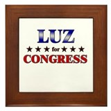 LUZ for congress Framed Tile