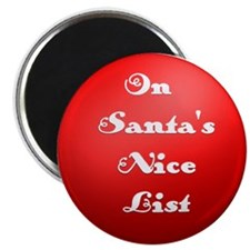 Santa's Nice List in Red Magnet