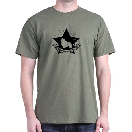 Obey the Sheltie! Propaganda Star Dark T-Shirt