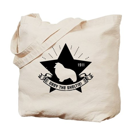 Obey the Sheltie! Propaganda Tote Bag