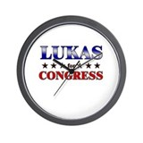 LUKAS for congress Wall Clock