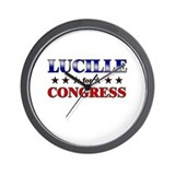 LUCILLE for congress Wall Clock