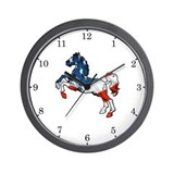 Old Glory Horse Wall Clock