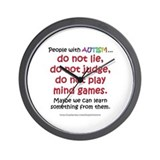 No Games (People) Wall Clock