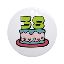 38th Birthday Cake Ornament (Round)