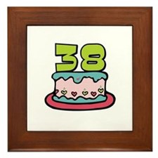 38th Birthday Cake Framed Tile