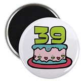 39th Birthday Cake Magnet