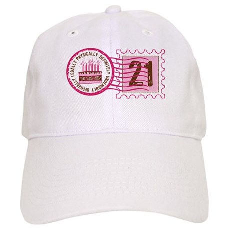 Birthday Stamp 21 Cap