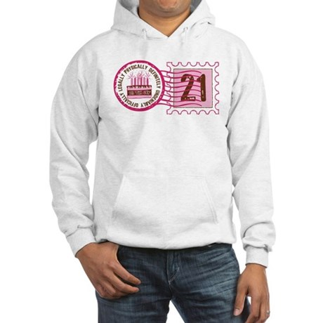Birthday Stamp 21 Hooded Sweatshirt