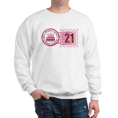 Birthday Stamp 21 Sweatshirt
