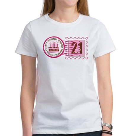 Birthday Stamp 21 Women's T-Shirt