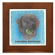 Black Labrador Retriever Tenn Framed Tile