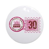 Birthday Stamp 30 Ornament (Round)