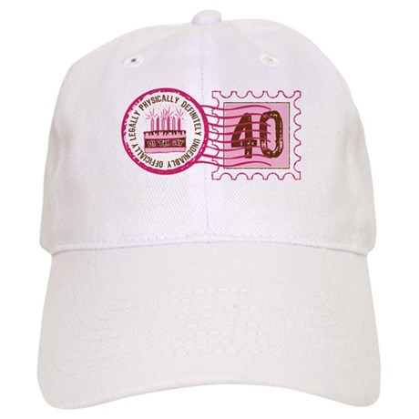 Birthday Stamp 40 Cap