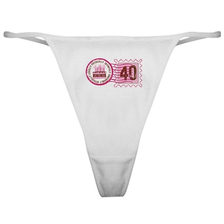 Birthday Stamp 40 Classic Thong