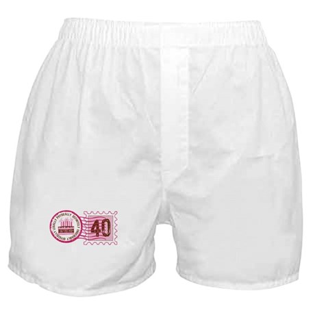 Birthday Stamp 40 Boxer Shorts