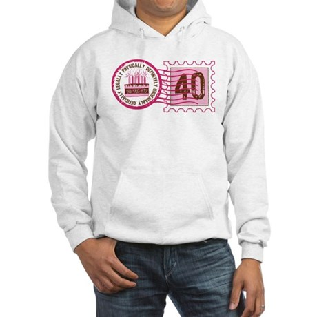 Birthday Stamp 40 Hooded Sweatshirt