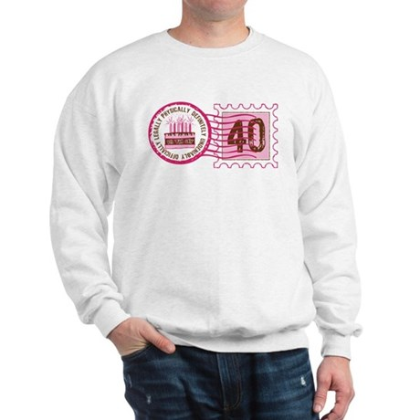 Birthday Stamp 40 Sweatshirt