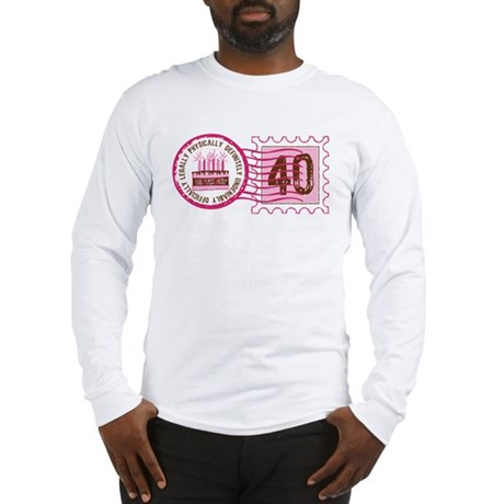 Birthday Stamp 40 Long Sleeve T-Shirt