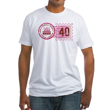 Birthday Stamp 40 Fitted T-Shirt
