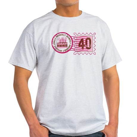 Birthday Stamp 40 Light T-Shirt