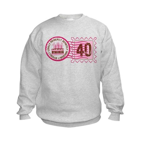 Birthday Stamp 40 Kids Sweatshirt