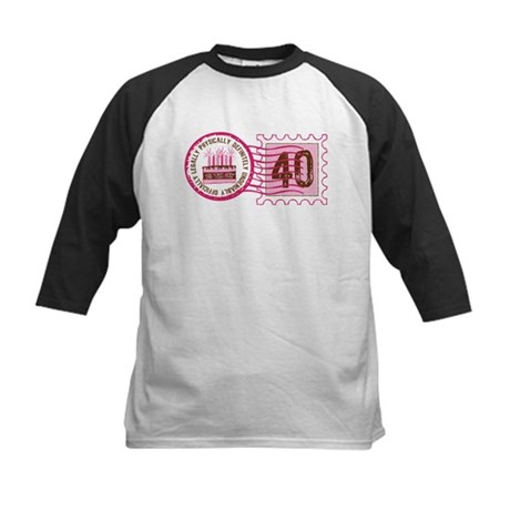 Birthday Stamp 40 Kids Baseball Jersey