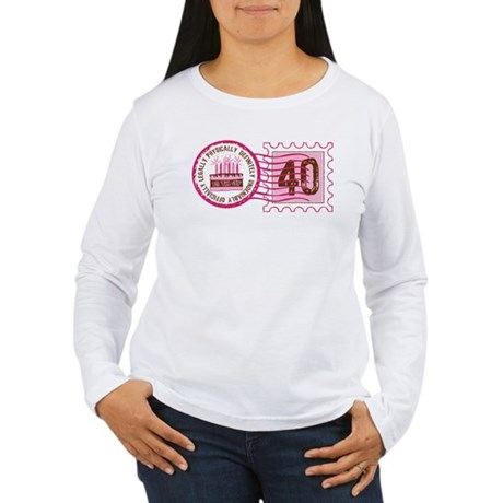 Birthday Stamp 40 Women's Long Sleeve T-Shirt