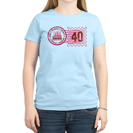 Birthday Stamp 40 Women's Light T-Shirt