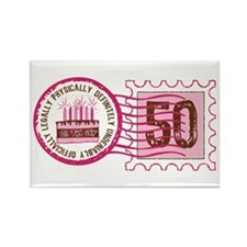 Birthday Stamp 50 Rectangle Magnet